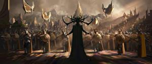 Картинки Воины Фантастический мир Тор: Рагнарёк Рога Кино