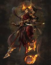 Картинки Воины Пламя Копья