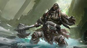 Картинка WoW Орки Боевые топоры / Секиры Крик Durotan Игры