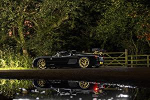 Фотографии Черный Сбоку Кабриолет 2015-17 Ultima Evolution Convertible Машины