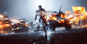Фото Battlefield 4 Солдаты Дождь Бег