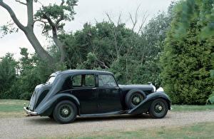 Картинка Бентли Старинные Серый 1939 Mark V Saloon by Park Ward Автомобили