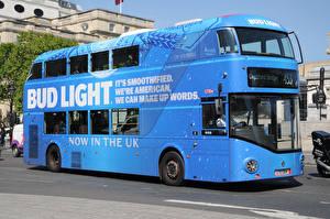 Фотография Автобус Голубой Bub light Автомобили
