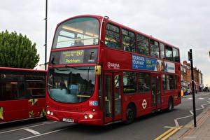 Фотографии Автобус Красный