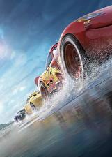 Картинки Тачки 3 Колесо Вид снизу Lightning McQueen, Cruz RamireJackson Stormz Мультфильмы