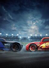 Картинка Тачки 3 2 Lightning McQueen, Jackson Storm Мультфильмы