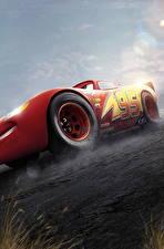Картинки Тачки 3 Красный Lightning McQueen Мультики