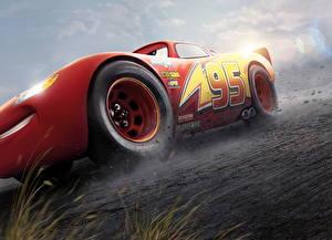 Обои Тачки 3 Красный Lightning McQueen Мультики