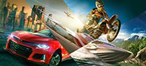 Картинки Chevrolet Катера Мотоциклист The Crew 2