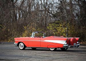 Обои Chevrolet Ретро Кабриолета Розовые 1957 Bel Air Convertible машина