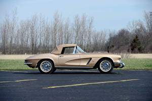 Картинки Шевроле Винтаж Сбоку 1962 Corvette GM Styling Show Car Авто