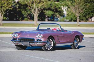 Обои Шевроле Винтаж Кабриолет 1962 Corvette ''Tangier Shrine Patrol''