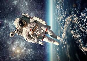 Картинки Космонавты Американские Космос