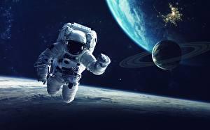 Фото Космонавты Поверхность планеты