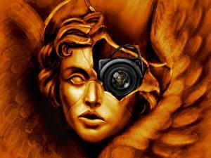 Обои Deus Ex Скульптуры Фотокамера Игры