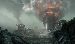 Фотографии Фантастический мир Titanfall 2 Игры Фэнтези