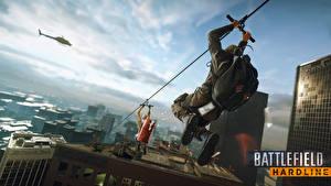 Фотографии Дома Мужчина Battlefield Hardline Игры 3D_Графика