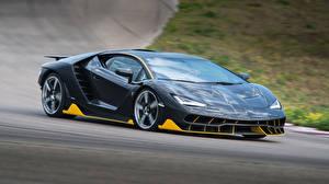 Фотографии Lamborghini Серые Металлик 2016 Centenario Coupe