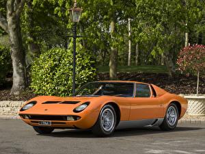 Обои Lamborghini Старинные Оранжевый Металлик 1969-71 Miura P400 S Bertone