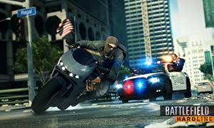 Фотография Маски Battlefield Hardline Мотоциклист Полицейские Игры 3D_Графика Мотоциклы
