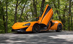 Фотография McLaren Оранжевый Открытая дверь 570S Автомобили