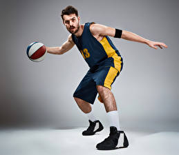 Картинки Мужчины Баскетбол Мяч Униформа Спорт