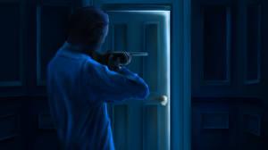 Картинка Мужчины Винтовка Рисованные Двери Фантастика