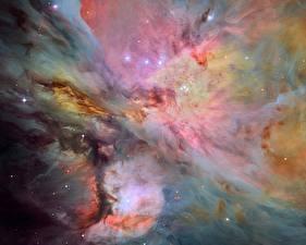 Фотография Туманности в космосе Orion Nebula Messier 42, M42