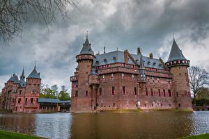 Фотография Нидерланды Замки Пруд De Haar Castle Города