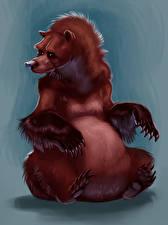 Картинки Рисованные Медведи Гризли Животные