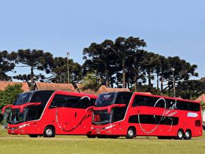Фотографии Сканиа Автобус 2 Красный 2000-11 Marcopolo Scania K124 Paradiso G6 1200 4×2 Авто
