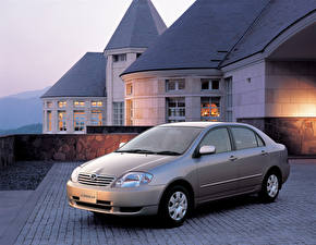 Обои Тойота Металлик 2000-02 Corolla Sedan автомобиль