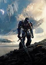Картинки Трансформеры: Последний рыцарь Робот Мечи Optimus Prime Кино