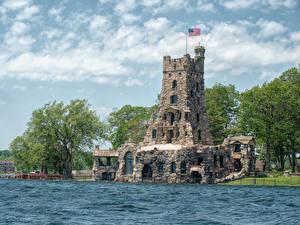 Фото США Побережье Дома Небо Дизайн Thousand Islands Города