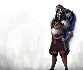 Обои Воины Клыки Фантастика Девушки