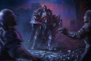 Картинка Воители Нежить Мечи Ночь Barbarian-revenant Фантастика