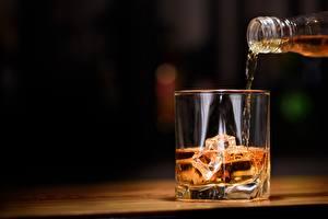 Картинка Виски Напиток Стакан Льда Пища