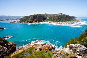 Картинки Африка Побережье Заливы South Africa Природа