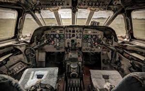 Фото Самолеты Кабина летчика Старый Авиация