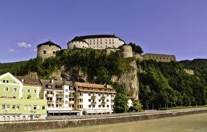 Фотографии Австрия Крепость Здания Утес Kufstein Fortress