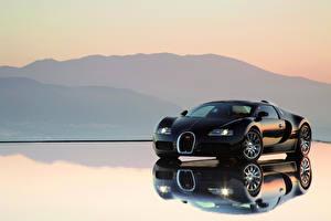 Обои BUGATTI Черный 2005-11 Bugatti Veyron Автомобили картинки