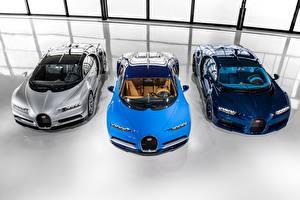 Обои BUGATTI Трое 3 Спереди 2016-17 Chiron Worldwide Автомобили картинки