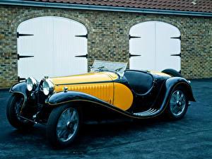 Обои BUGATTI Ретро Металлик 1932-35 Type 55 Roadster Автомобили картинки