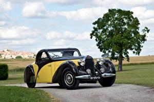 Обои BUGATTI Ретро Металлик 1935 Type 57 Atalante Coupe Автомобили картинки