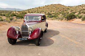 Обои BUGATTI Ретро Спереди 1937 Type 57 Pillarless Sports Coupe by Graber Автомобили картинки