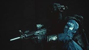 Картинки Battlefield Hardline Автоматы Полицейские Special Weapons Assault Team