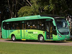 Обои Автобус Салатовый 2012-17 Marcopolo Viale BRT Hibribus Автомобили