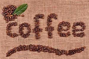 Фотография Кофе Зерна Слово - Надпись Английский Продукты питания