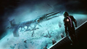 Фотография Dead Space Корабль isaac clarke компьютерная игра Фэнтези Космос