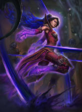 Обои Diablo III Волшебство Reaper of Souls Игры Девушки Фэнтези